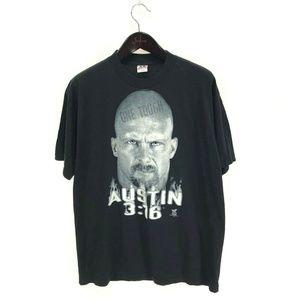 STONE COLD Steve Austin T-shirt XL Vintage Black